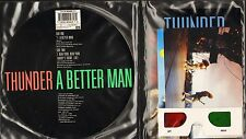 "THUNDER a better man BETTER1 3-d sleeve with glasses and 3 postcards 7"" PS VG/EX"