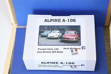 Alpine A106 1/24 kit à monter en résine fait maison Renault 4CV Heller