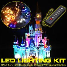 ONLY LED Lighting Kit For LEGO 71040 For Disney Castle Updated With Spotlight e