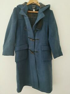 Vintage Gloverall Blue Duffle Coat SMALL * Made in England * Toggle loop broke