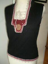 Max&Co Black Knit&Crochet Top/Jumper/Sweater/70,s style,Hippy boho,Festival.