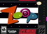 Zoop Super Nintendo Game SNES Used