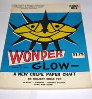 VTG UNUSED 1960 Wonder GLow BOOK 1 TISSUE PAPER N CARDBOARD HOLIDAY CRAFT BOOK