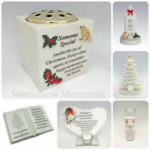 Someone Special Christmas Memorial Tributes Tree Robin Bauble Candle Book Plaque
