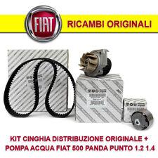 KIT DISTRIBUZIONE ORIGINALE + POMPA ACQUA + CINGHIA FIAT 500 PANDA PUNTO 1.2 1.4