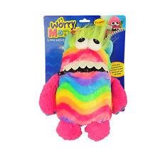 Guaranteed4Less Worry Monster Cuddly Toy Eats Zip Up Mouth Loves Worries Bad Nightmare Dreams - Rainbow
