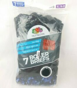 Fruit of the Loom Boys Boxer Briefs XL 7 Pack Tag Free Wicks Moisture No Ride Up