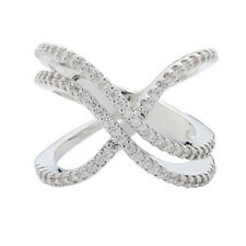 Jewelry White Sapphire Rings Size 9 Infinity 925 Silver Wedding Rings Women