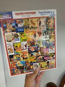 Lewis T. Johnson Movie Posters White Mountain Jigsaw Puzzle NIB