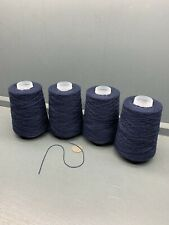 800G DARK NAVY BLUE MIX 2/14NM 55% LAMBSWOOL 45% COTTON YARN