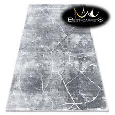 Modern Designer cheap Rug 'MEFE' Marble dark grey high low structure best carpet