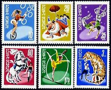 1969 Circus,Bike,Clown,Tiger,Horse,Umbrella,Parasol,Circo,Cirque,Romania,2790,NH
