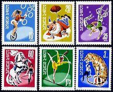1969 Circus,Bike,Clown,Tiger,Umbrella,Horse,Parasol,Circo,Cirque,Romania,2790MNH