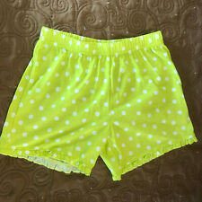 Carters Lime Green Polka-Dot Shorts - Girls Size 6 - Beautiful Condition