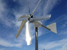 6 LASER CUT BLADES  WIND TURBINE  - CHARGE CONTROLLER ONBOARD