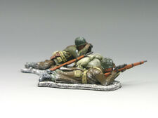 King & Country Battle of The Bulge BBA023 U.s. Winter Sniper Team MIB