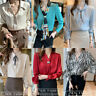 New Spring Elegant Fashion Women Button Down Shirt Career Casual Business Blouse