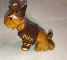 "NEW Vintage 6"" Anri Italian College University of Pittsburgh Carved Wood Panther"