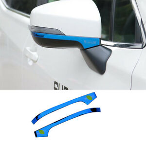 For Subaru forester XV 2018-2020 blue titanim Rearview Mirror Anti-scratch strip