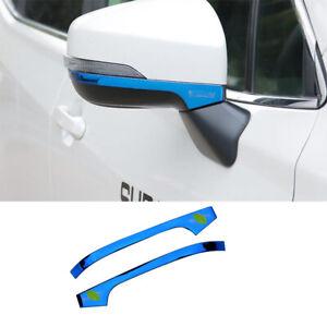 For Subaru forester XV 2018-2020 blue titanim Rearview Mirror Anti-scratch strip