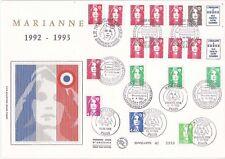 Enveloppe grand format 1er jour 1993 GF Soie Série Marianne