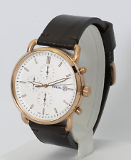 Mens's Fossil Watch, Commuter Chronograph Java Leather Watch FS5476, New