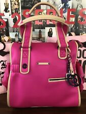NWT Juicy Couture Daydreamer Handbag Shoulder Bag Tote Neoprene Pink + Keychain