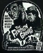THE FIENDISH GHOULS CULT CLASSIC HORROR FILM MOVIE BLACK CANVAS BACK PATCH