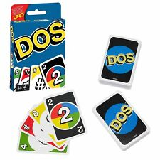 DOS Card Game from Mattel Card Game like UNO Family Fun Kids Travel Game NEW