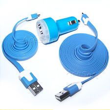 NEW Dual USB 2 Port Car Charger + USB SYNC DATA CABLE FOR SAMSUNG GALAXY Y S5360