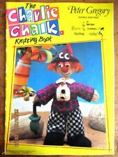 ~THE CHARLIE CHALK KNITTING BOOK - 7 KNITTED TOYS IN DK - PETER GRGORY - VGC~