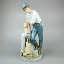 More details for large royal dux figurine of boy at water fountain