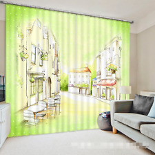 3D Cartoon City Blockout Photo Curtain Printing Curtains Drapes Fabric Window CA