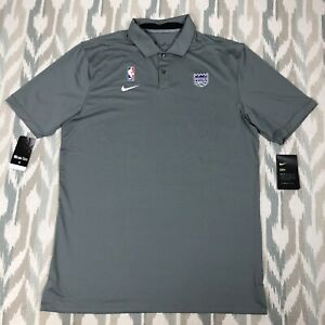 Nike NBA Sacramento Kings Mens Short Sleeve Shirt Polo Gray Sz S/M/XL AV1791-002