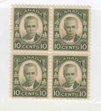 CANADA (MK3097) # 190 VF-3MNH/1H  10cts 1931 GE CARTIER /BLOCK OF 4 CAT VAL $200