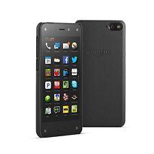 Original Cuir Naturel Étui Slim COQUE pour Amazon Fire Téléphone Portable - Noir
