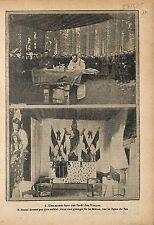 Aumônier Militaire Messe Forêt des Vosges Autel Grange  WWI 1915 ILLUSTRATION