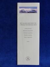 Mercedes-Benz E-Klasse W124 - Lacke und Polster - Prospekt Brochure 02.1996