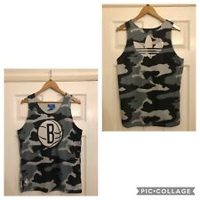 Mens ADIDAS BROOKLYN NETS Camouflage Basketball Vest, Size M, New Without Tags