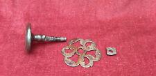 1)  Poignée de porte ancienne avec rosace fer forgé clenche serrure loquet