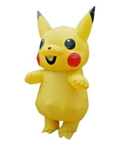 Adult Inflatable Yellow Mouse Cartoon Costume Anime Video Games Fancy Dress