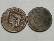 2 Low Grade Large Cents: 1837 & 1851. #29