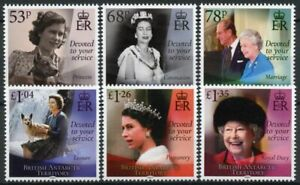 BAT Royalty Stamps 2021 MNH Queen Elizabeth II 95th Birthday 6v Set