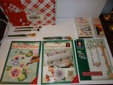 Donna Dewberry One Stroke Paint Kit Folk Art Vhs Tech Guide Basic Strokes Brush