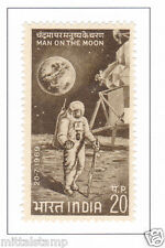 PHILA499 INDIA 1969 SINGLE MINT STAMP OF FIRST MAN ON THE MOON MNH