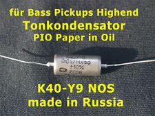 Tonkondensator PIO Paper in Oil 0,047 uF für Bass Pickups Soundverbesserung!!