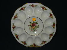 ROYAL ALBERT OLD COUNTRY ROSES EGG PLATE Lot 94