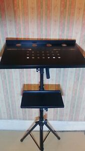 Stagg COS-10 Laptop Keyboard Push 2 Adjustable Height Desk DJ Music Piano Stand