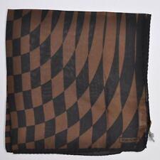 100% new TOM FORD silk pocket square dark brown design hankie 170992