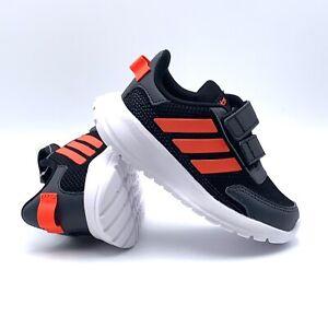 Adidas Baby/Toddler Tensaur Run I Black/Solar Red/Gray Running Shoes Size 7K NWT
